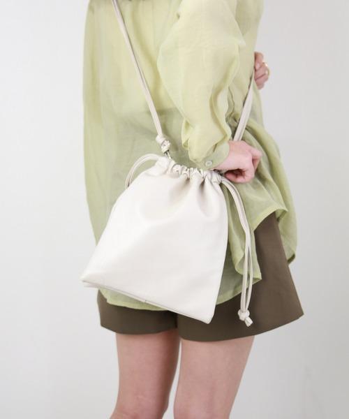 CLEA(クレア)の「2WAY 巾着 ミニショルダー(ショルダーバッグ)」|アイボリー
