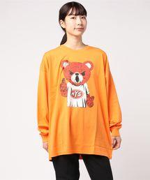 BEAR MASTER オーバーサイズTシャツオレンジ