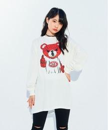 BEAR MASTER オーバーサイズTシャツホワイト