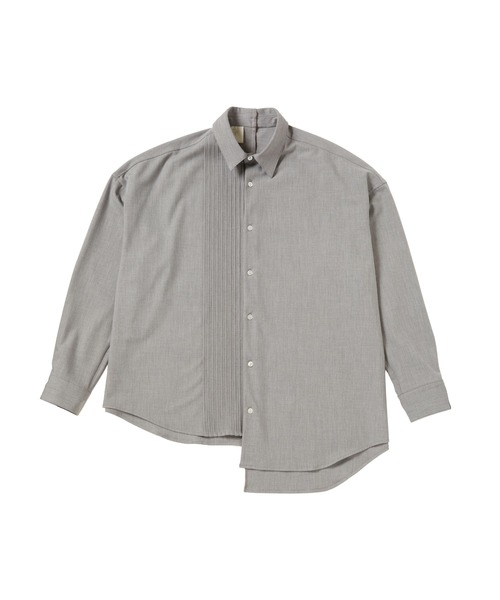 FALL2020 PLEATED DRESS SHIRT