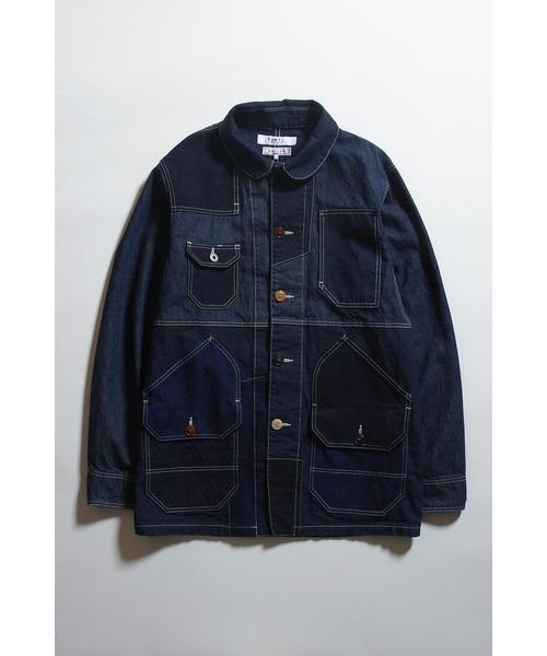 FDMTL/ファンダメンタル/パッチワークカバーオールジャケット/Patchwork Coverall Jacket Rinse