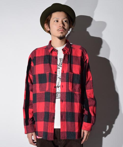 【好評にて期間延長】 John Wide Shirts Shirts ワイドシルエット ネルシャツ(シャツ Wide/ブラウス)|ALDIES(アールディーズ)のファッション通販, Tentendo:75d3c24a --- blog.buypower.ng
