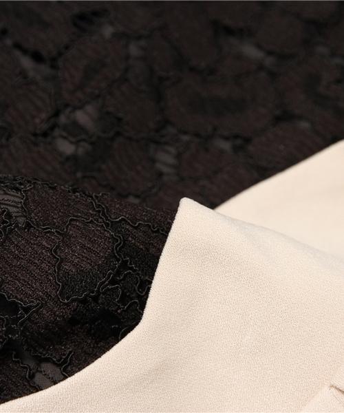 SweetMommy(授乳服&マタニティ)(スウィートマミー)の「ウエストスカラ バイカラーワンピース 半袖(マタニティウェア)」|詳細画像