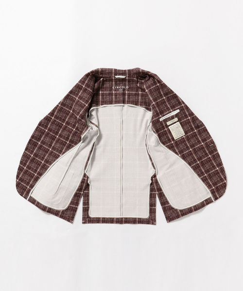◎CIRCOLO1901 / グレンプレイド2ボタンジャケット