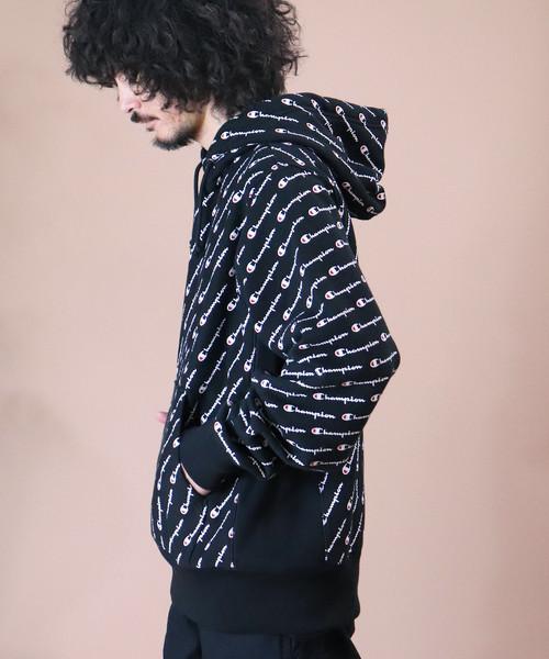 【Champion/チャンピオン】S2974 Reverse Weave PO Hiid w/All over Print