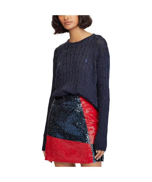 メタリック ケーブル セーター