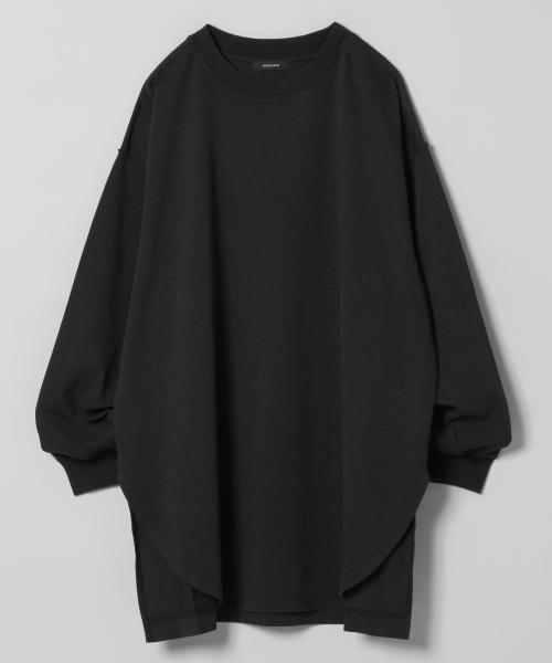 JEANASIS(ジーナシス)の「シャツテイルBIGロンT/826709(Tシャツ/カットソー)」 ブラック