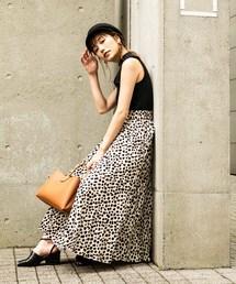 FREE'S MART(フリーズマート)の◆レオパード変形プリーツスカート(スカート)