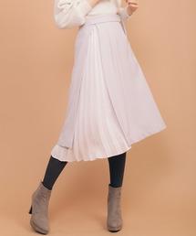 31 Sons de mode(トランテアン ソン ドゥ モード)のプリーツレイヤード風スカート(スカート)
