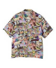 SUMMER OF 70S柄 オープンカラーシャツマルチ