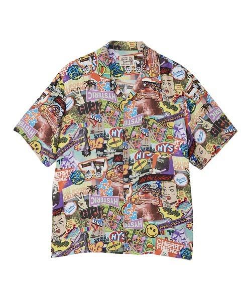 SUMMER OF 70S柄 オープンカラーシャツ