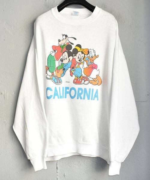 【ヴィンテージ古着】90's Disney/ディズニー 'CALIFORNIA' クルーネックスウェット USA製