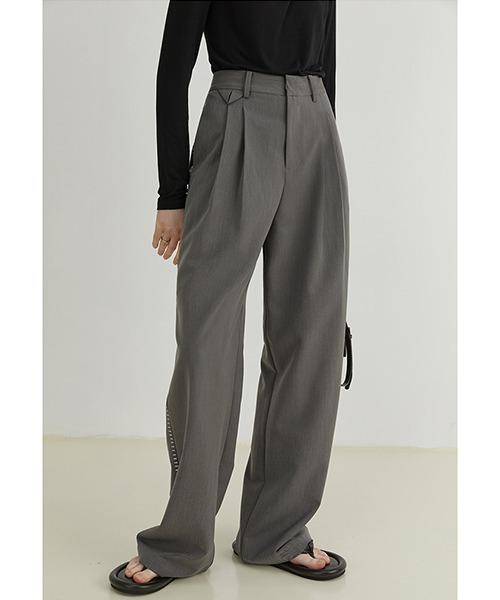 【Fano Studios】【2021AW】Double pleated stitch suit pants FQ21K001