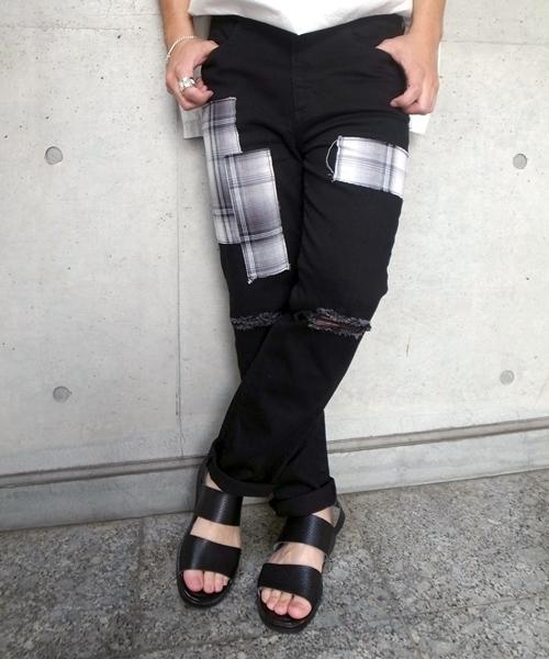 人気ブラドン PATCHWORK CRASH SKINNY CRASH DENIM PANTS(デニムパンツ) DENIM|GDC(ジーディーシー)のファッション通販, シミズチョウ:3cb6d414 --- pyme.pe