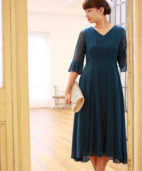 多様な 【セール】袖レースウエストタックロングワンピースドレス(ドレス)|TRUDEA(トルディア)のファッション通販, Villa Leonare:169331b7 --- wm2018-infos.de
