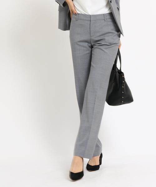 【本日特価】 [S]シャンブレー調 ストレートパンツ(パンツ)|INDIVI(インディヴィ)のファッション通販, Creez:45548073 --- pyme.pe