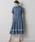Emma Taylor(エマテイラー)の「【STYLEBAR】タックフレアシャツドレス(ワンピース)」|ブルー