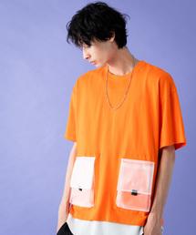 7078cd97e2d6c Herden(ハーデン)の「Herden クリアポケットカラーTシャツ(Tシャツ/