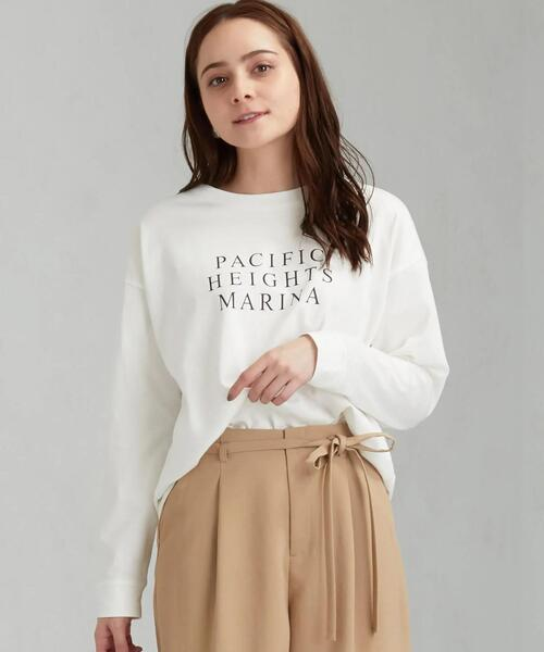 SC オーバーサイズ プリント ロングスリーブ Tシャツ