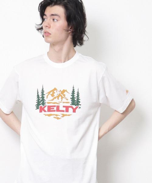 ∴【 KELTY / ケルティ 】マウントレイルTシャツ ロゴTシャツ 半袖 KE21113028 GKO