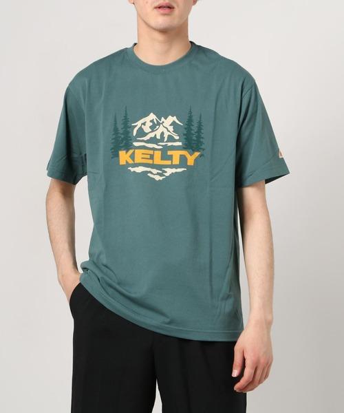 【 KELTY / ケルティ 】マウントレイルTシャツ ロゴTシャツ 半袖 KE21113028 GKO