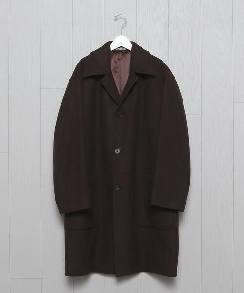 <AURALEE>DOUBLE CLOTH LIGHT MELTON SOUTIEN COLLAR COAT/コート.