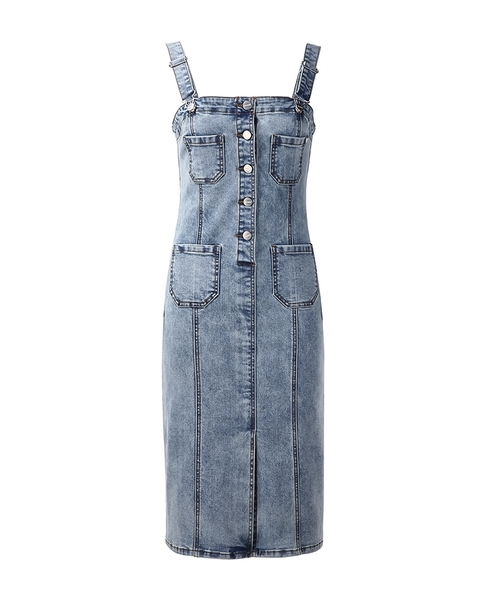 GUESS x Marilyn Monroe TIGHT DENIM OVERALL SKIRT