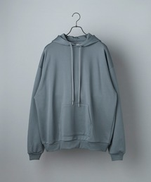 ビッグシルエット クオリティーブライト裏毛 プルオーバーパーカー/EMMA CLOTHES (セットアップ対応)ブルー系その他