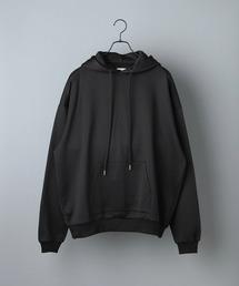 ビッグシルエット クオリティーブライト裏毛 プルオーバーパーカー/EMMA CLOTHES (セットアップ対応)ブラック