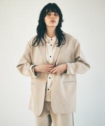 ルーズシルエットテーラードジャケットEMMA CLOTHES 2021 S/Sグレイッシュベージュ