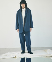 ルーズシルエットテーラードジャケットEMMA CLOTHES 2021 S/Sブルー
