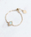 NOIR DE POUPEE(ノワールドプーペ)の「K10 オーバル 天然石 チェーンリング【誕生石】Primo(リング)」 ホワイト