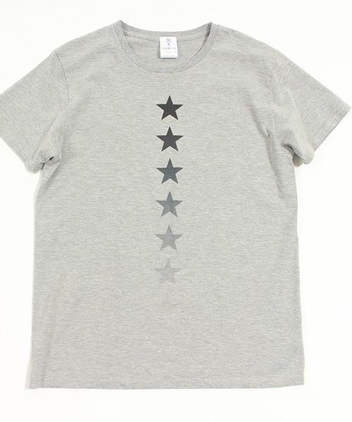 mt4357-プリントT-STAR縦(C/N) Tシャツ