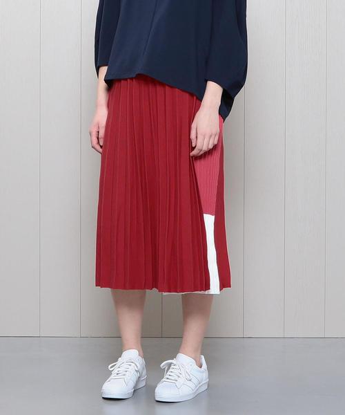 <Harikae>PLEATS LAYERED SKIRT/スカート