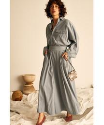 Mila Owen(ミラオーウェン)の細コールセットアップスカート(スカート)