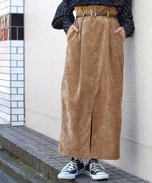 w closet(ダブルクローゼット)のウエストタックタイトロングスカート(スカート)