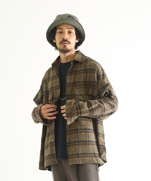 高級ブランド marka/ cotton マーカ:FLAP POCKET - SHIRTS - cotton viyella check check -:M19D-07SH01C[COR](シャツ/ブラウス)|marka(マーカ)のファッション通販, Grandeir:42b8903d --- tsuburaya.azurewebsites.net