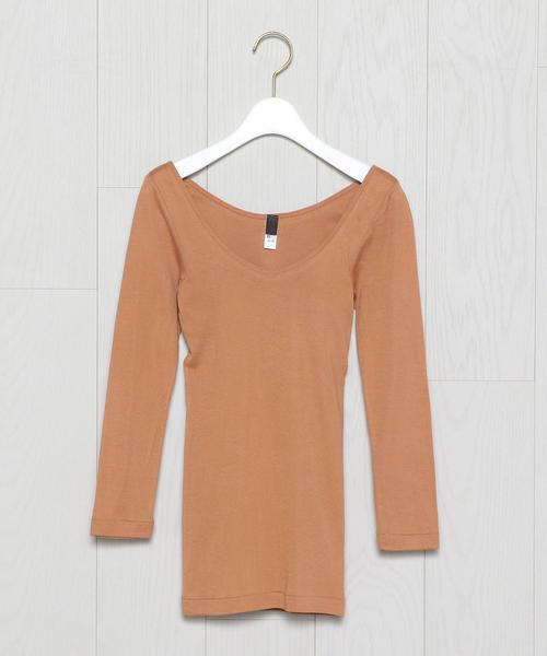 <Souple Luz>BRA PAD LONG SLEEVE PULLOVER/カットソー