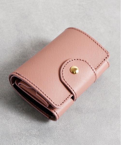 com-ono コモノ コムォノ / Tiny Series compact wallet:bonding タイニーシリーズ コンパクトレザー三つ折りミニウォレット / TINY-002JA