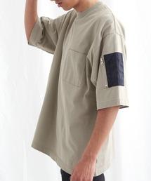 ユーティリティポケットS/Sカットソー【EMMA CLOTHES/エマクローズ】2021SSグレイッシュベージュ