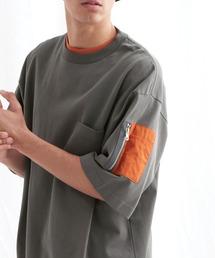 ユーティリティポケットS/Sカットソー【EMMA CLOTHES/エマクローズ】2021SSチャコール