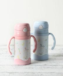 Afternoon Tea(アフタヌーンティー)の木馬柄ストロー付きステンレスマグカップ(お食事グッズ)