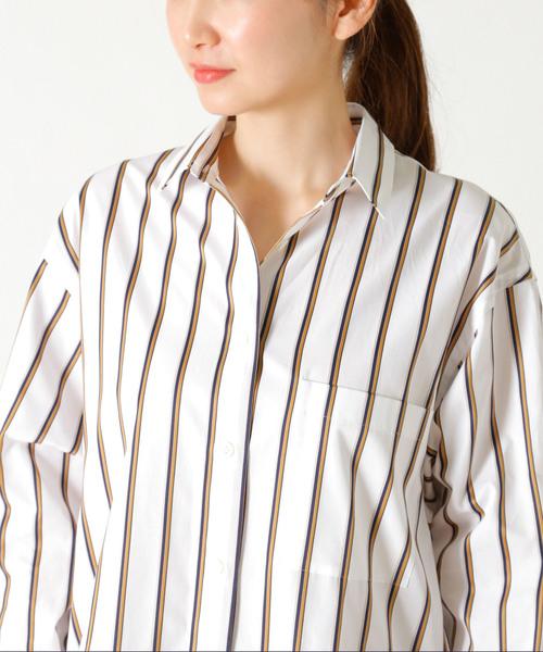 SOMELOSストライプシャツ