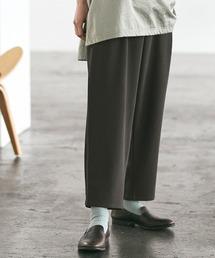 梨地ルーズリラックス テパードワイドパンツ /EMMA CLOTHES 2020AW (セットアップ対応)グレー系その他
