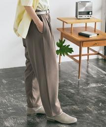 梨地ルーズリラックス テパードワイドパンツ /EMMA CLOTHES 2020AW (セットアップ対応)ベージュ系その他