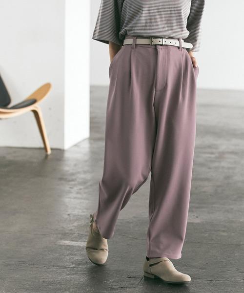 梨地ルーズリラックス テパードワイドパンツ EMMA CLOTHES 2021 AUTUMN
