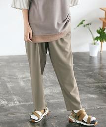 梨地ルーズリラックス テパードワイドパンツ /EMMA CLOTHES 2020AW (セットアップ対応)グレイッシュベージュ