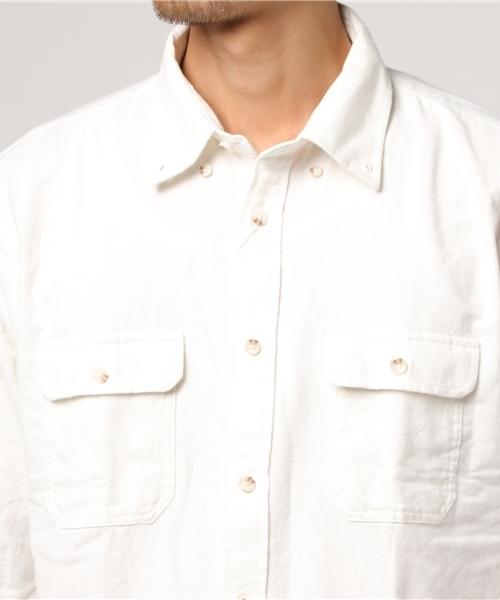 ネル無地シャツ