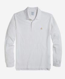BROOKS BROTHERS(ブルックス ブラザーズ)のGF スーピマコットンピケ パフォーマンス ロングスリーブポロシャツ Slim Fit(ポロシャツ)