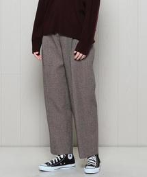 <H>TWEED TUCK PANTS/パンツ